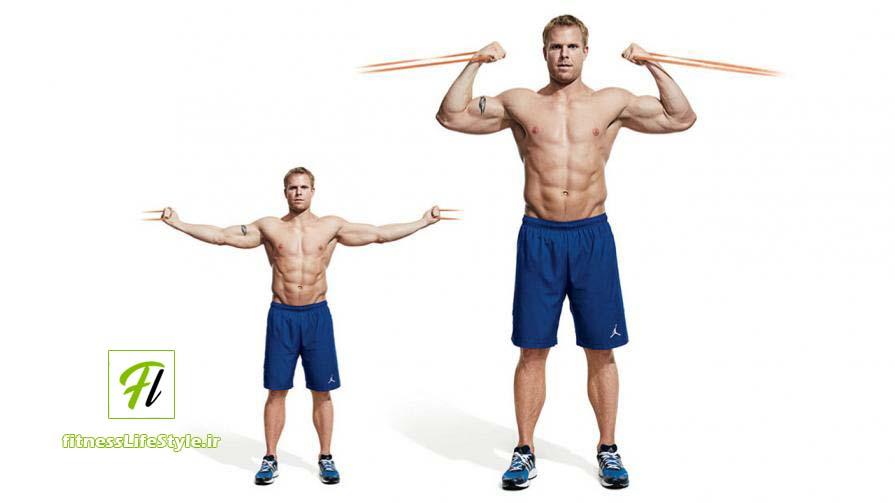 جلو بازو سیم کش از بالا