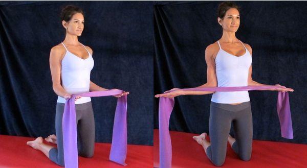 تمرینات بازو با کش